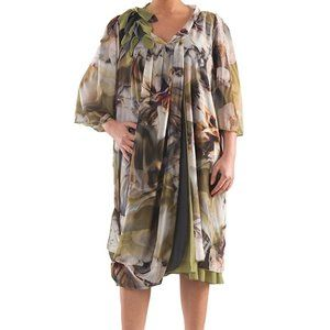 Asymmetrical Chiffon Dress - Plus Size Collection